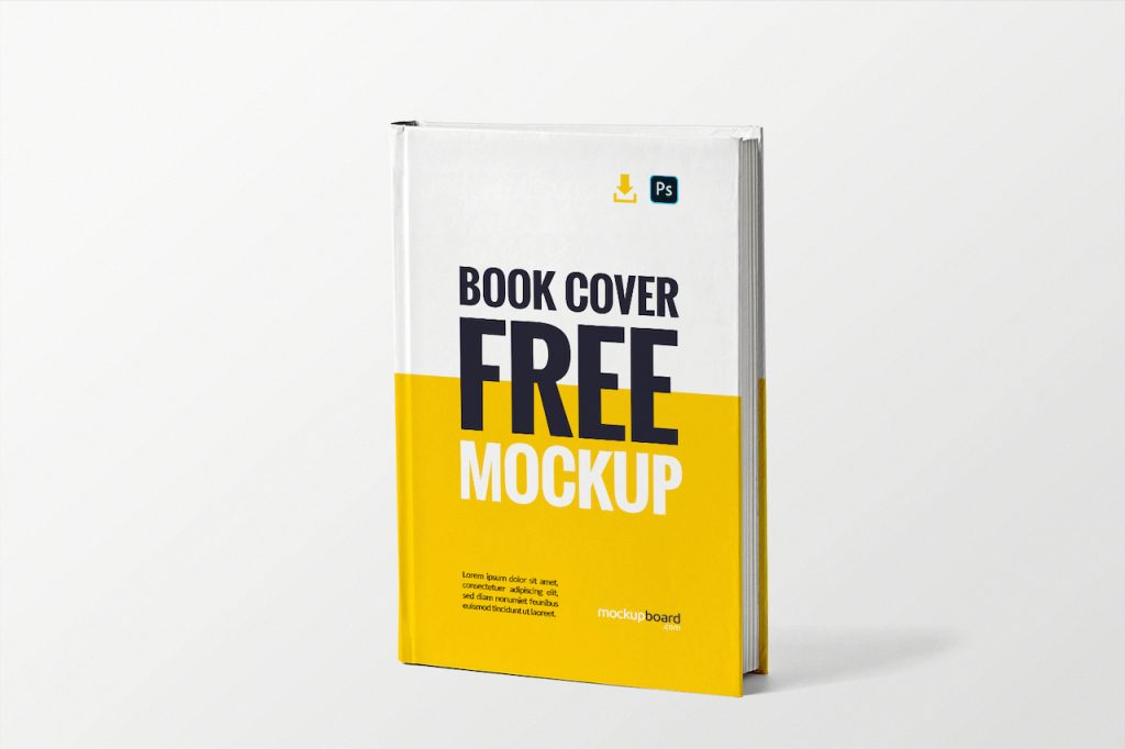 A cover book mockup available for free download