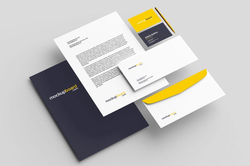 Visual identity branding mockup free download PSD file