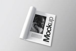 Foldet Magazine mockup, PSD file, free download