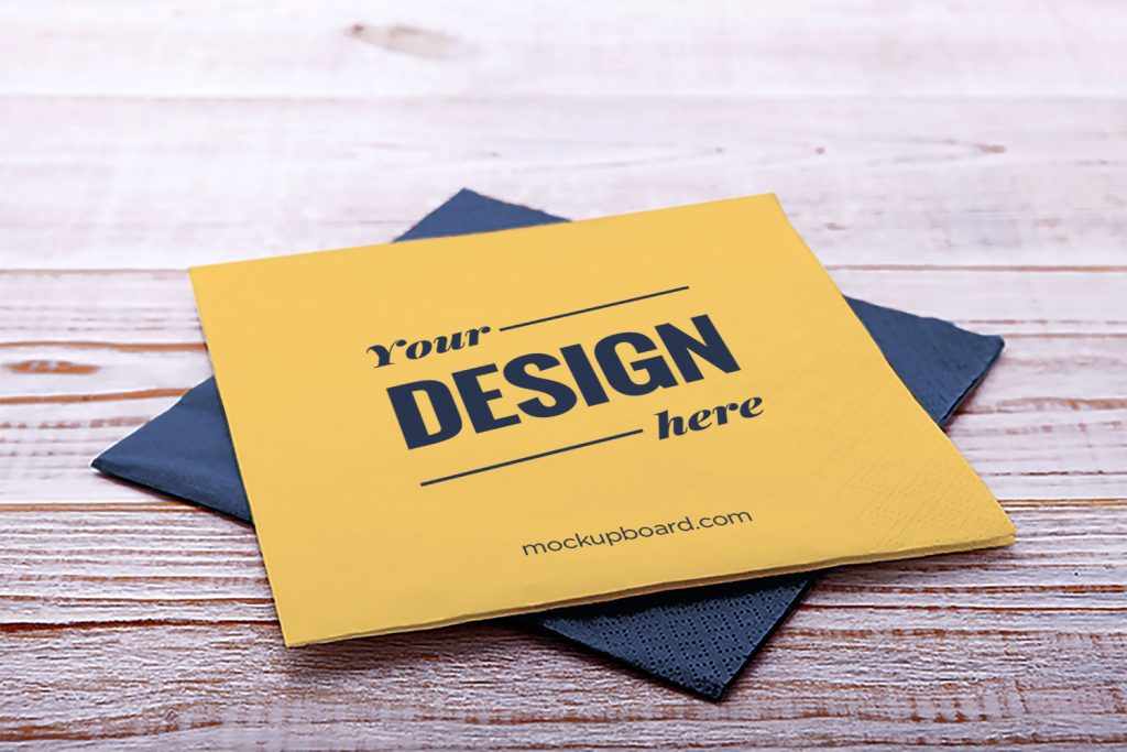 A free napkin mockup easy to customize, PSD file