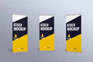 Roll-up free mockup for Photoshop CC