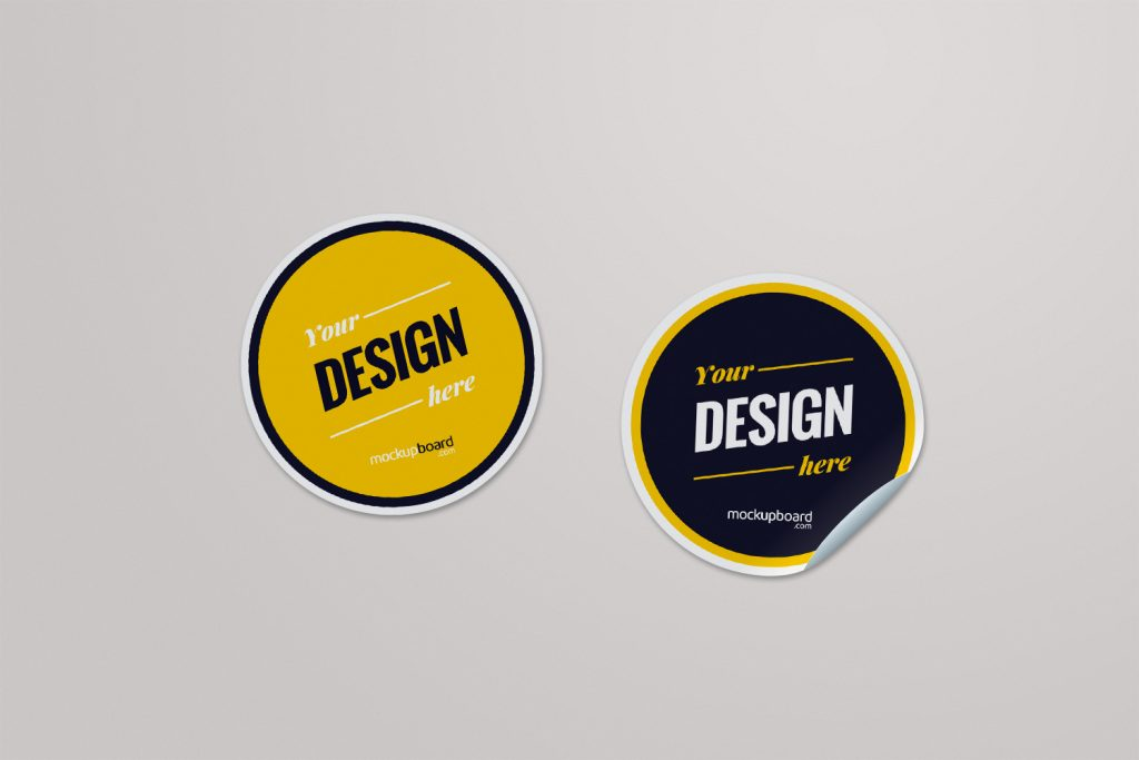 Sticker mockup PSD available for free download