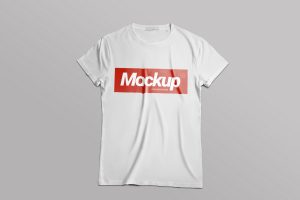 A free white T-Shirt mockup easy to customize